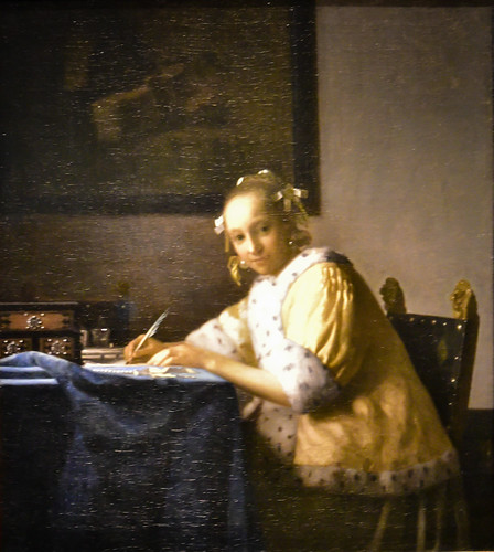 Johannes Vermeer's A Lady Writing