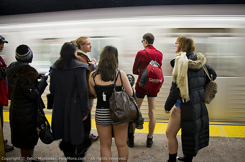 2011 No Pants Subway Ride: Train | by Peter Morawski
