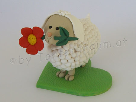 Schaf Mit Blume Tortenfiguren Flickr