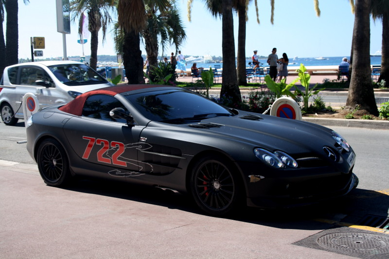 Mercedes Benz Slr Mclaren 722 S Roadster A Mat Black Merce Flickr