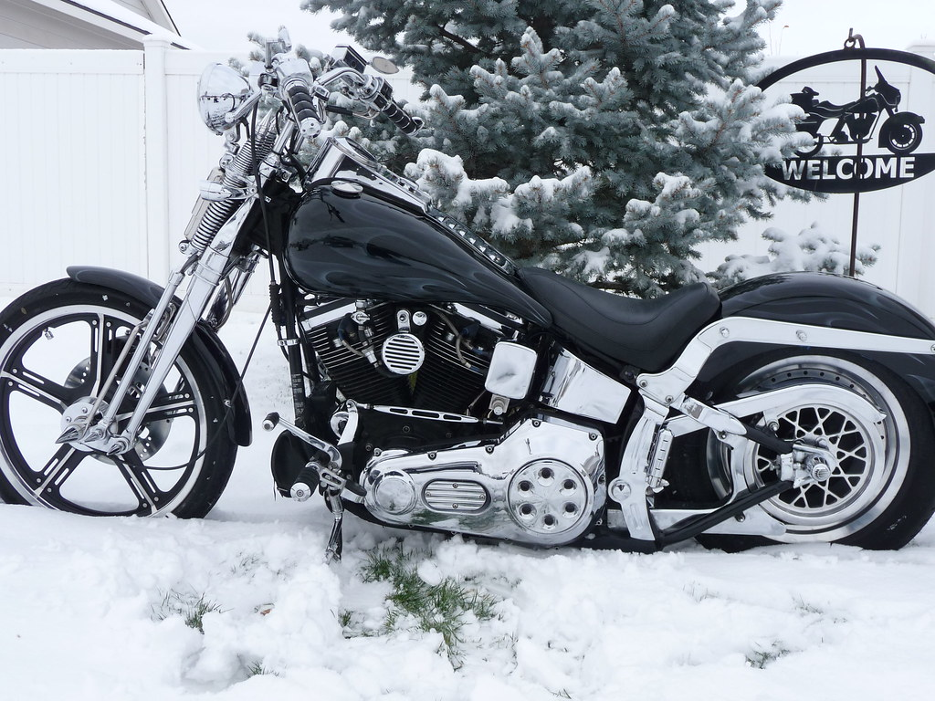 92 Harley Softail Springer FXSTS With New Paint And Fres