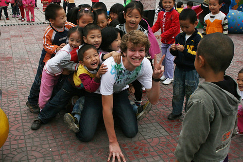 Evan Moore--Mobbed at Recess | by SPU Study Abroad