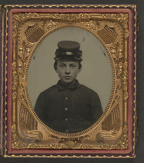 [Unidentified young soldier in Union uniform and forage cap] (LOC) | by The Library of Congress