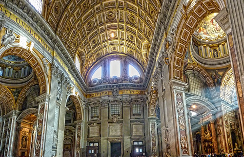 Panorama inside St. Peter's entrance | by Daniel Schwabe