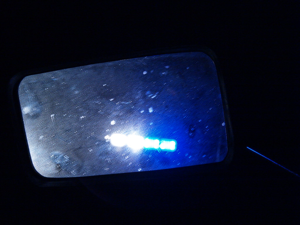 ... Houston Texas Police Lights In My Mirror Of My Motorcycle After I Was  Stop For Nothing