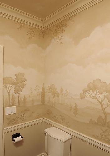 Mural Bath Using Stencils Beautiful Wall Stencils By Cutt