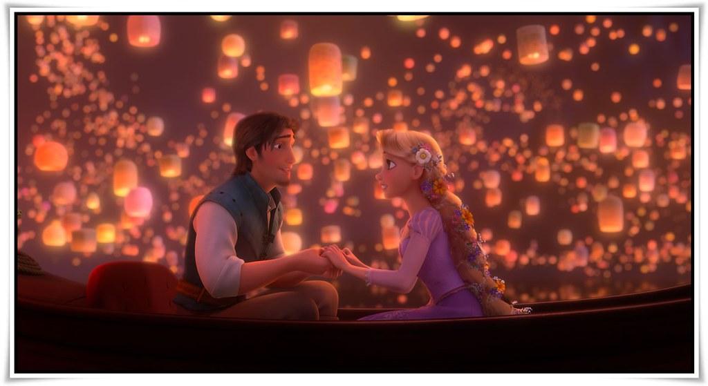 Flynn Rapunzel Lanterns Tangled Wallpaper