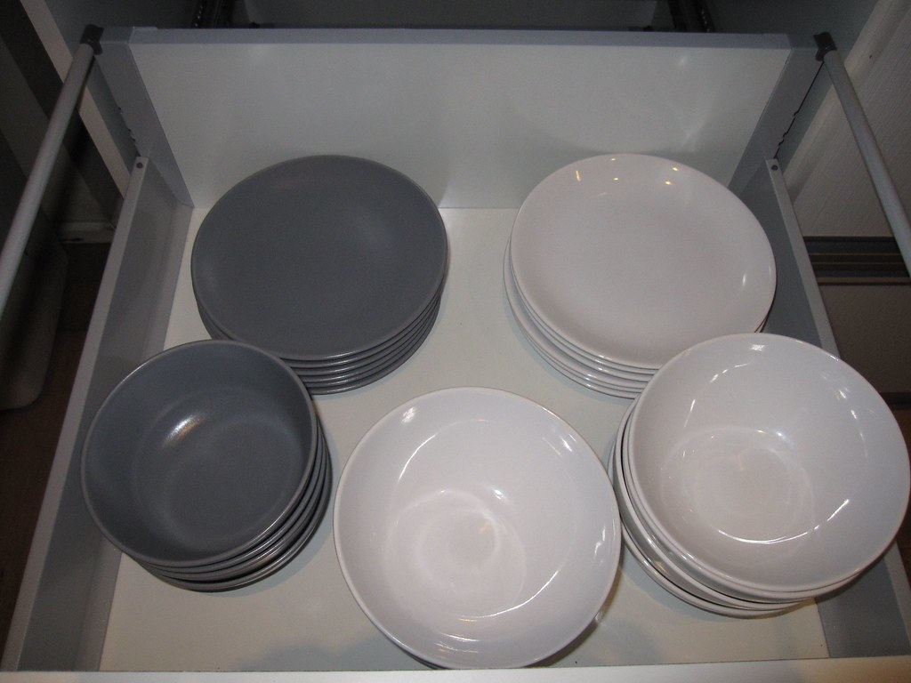 Ikea Fargrik Plate Sets - Gray blue and pure white   Flickr