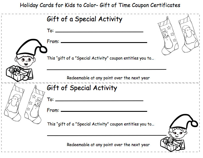 ... Homemade Christmas Coupons  Gift For Kids To Give Coloring | By  Nutrition Education  Christmas Coupons Template