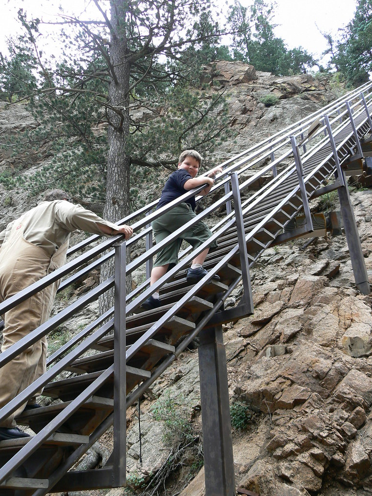 Beau ... Stairs Staircase Going Up Seven Falls Colorado Springs Co Usa Long  Steep Climb | By Tim
