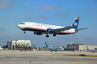 USAirways landing in Miami. | by Fly For Fun