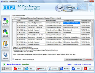 DRPU PC Data Manager (Advanced KeyLogger) - Screenshot 1 | by mihalysoft