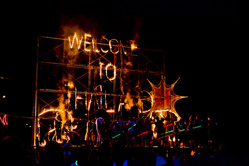 Lighting display for the Full Moon Party | by joestump