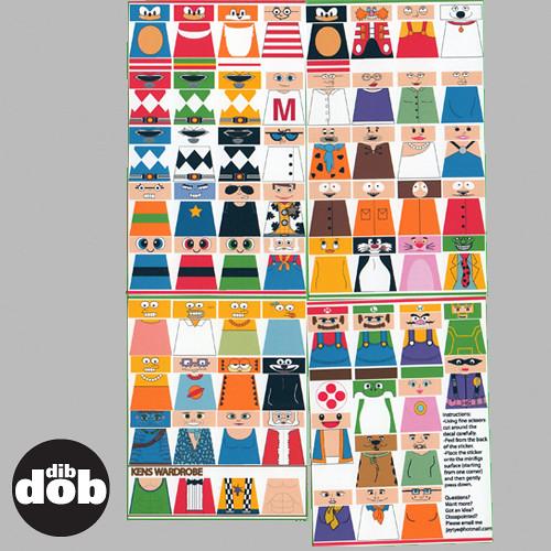 By dibdobdesign custom lego various cartoon decal sticker set by dibdobdesign