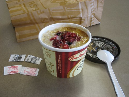 oatmeal from tim hortons i think the packets of pepper. Black Bedroom Furniture Sets. Home Design Ideas