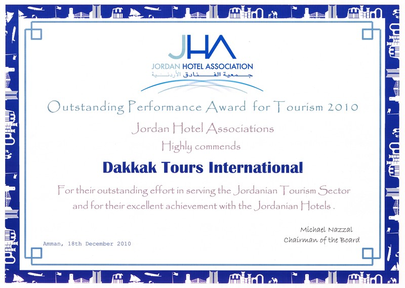 Certificate of appreciation granted to dakkak tours intern flickr certificate of appreciation granted to dakkak tours international the outstanding performance award for tourism 2010 yelopaper Image collections