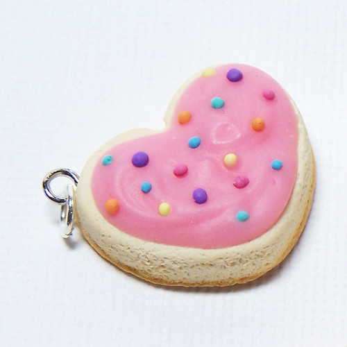 Heart Shaped Sugar Cookie Charm | by Sweet Cherry Designs