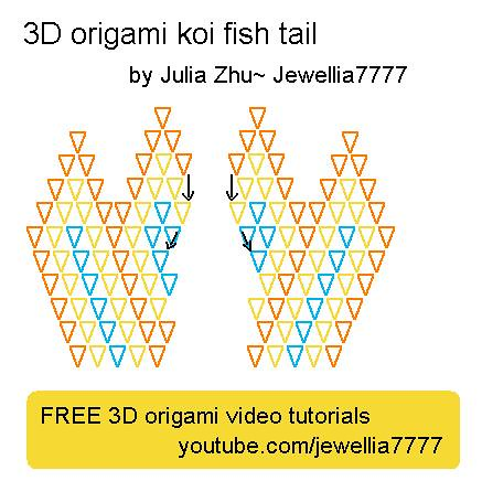 3d Origami Koifish Tail Koi Fish Tutorial Here Youtub Flickr