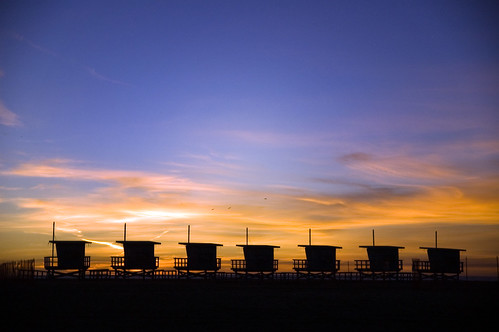 Venice Beach sunset huts | by lauripiper