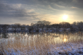 Porta Weser Winter sunset | by blavandmaster
