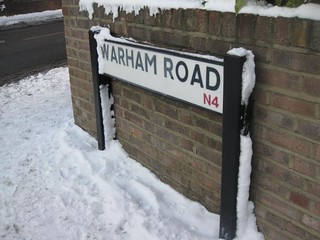 Warham Sign in the snow | by MrsEds