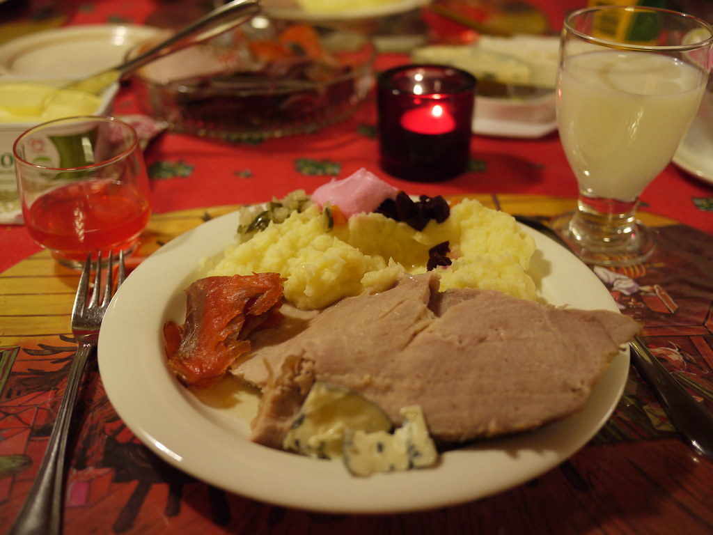 frozenreindeer traditional christmas dinner plate in finland by frozenreindeer