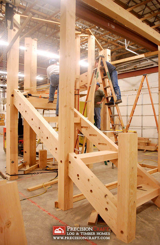 Timber frame construction flickr for Timber frame house construction