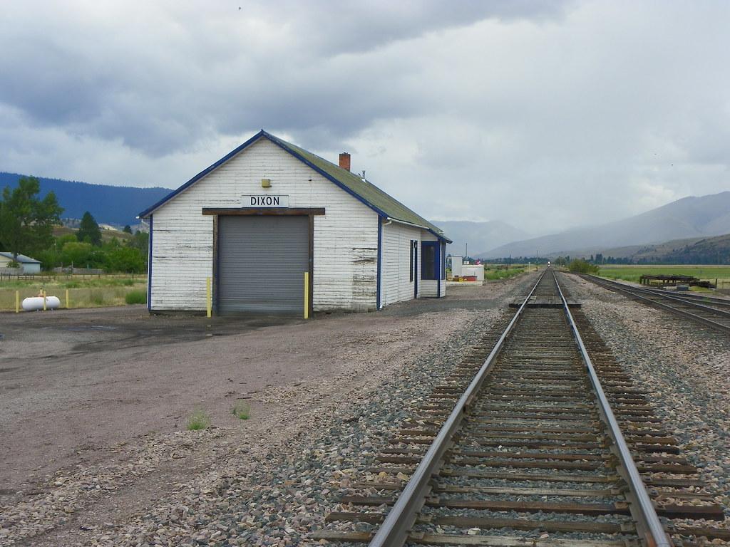 Montana sanders county dixon -  Railroad Depot In Dixon Montana By J Stephen Conn