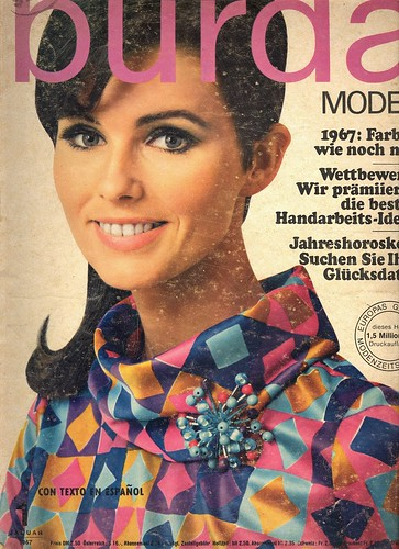 Burda January 1967 German Fashion Magazine Burda Moden