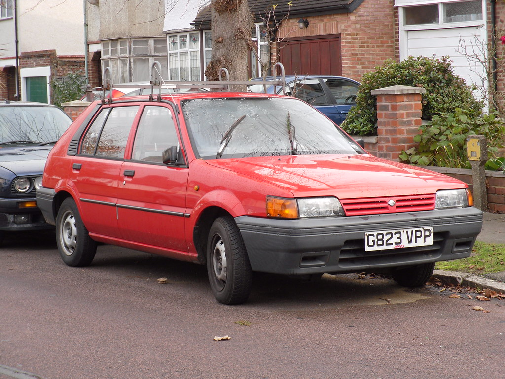 1990 Nissan Sunny 1.4 LS Hatchback. | As previously mentione… | Flickr