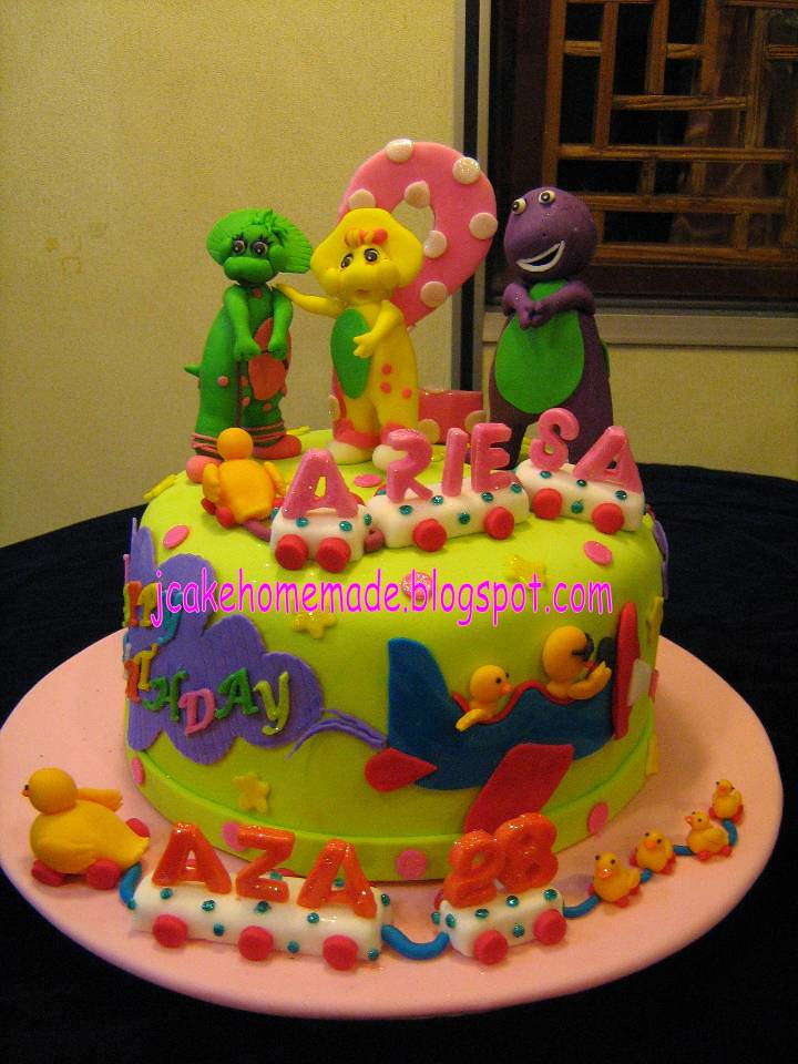 Barney birthday cake Happy 2nd birthday Ariesa and happy 2 Flickr