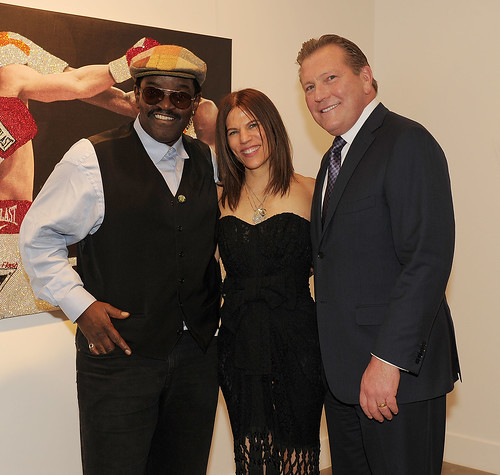 Artist Fab 5 Freddie, Doreen Yemen and The Cosmopolitan CEO John Unwin | by The Cosmopolitan of Las Vegas