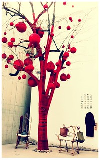 Yarn wrapped tree in 798 Art District - Beijing | by Leslie Y.