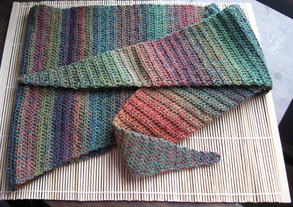 Clover Crocheted Baktus Scarf Pattern Ravelrypat Flickr