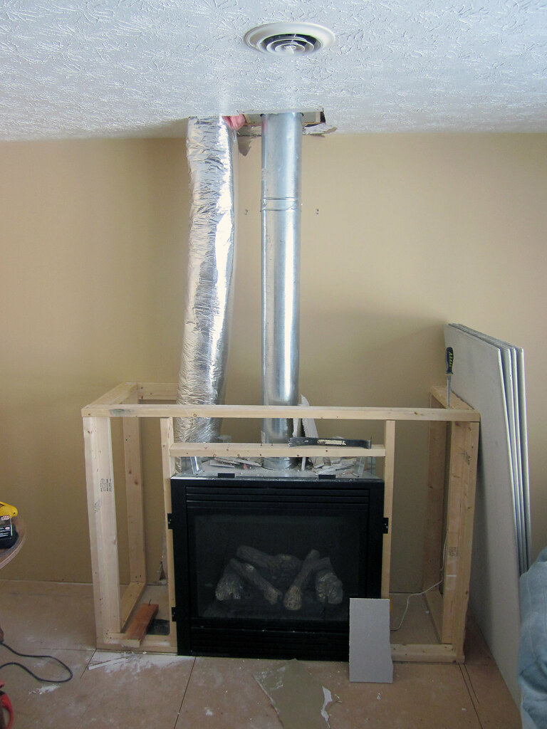 Gas Fireplace Framing | I had enough wood to get the bottom … | Flickr