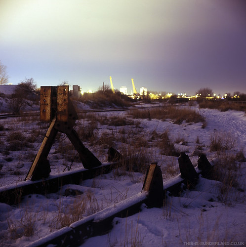Hendon - Tracks in the Snow - Sunderland | by martintype