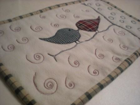 homespun love birds | by Erin @ Why Not Sew? Quilts
