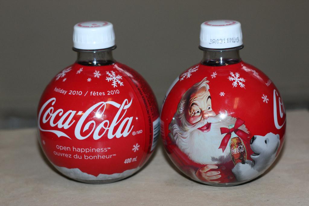 2010 coca cola christmas ornament bottles by cody la bire