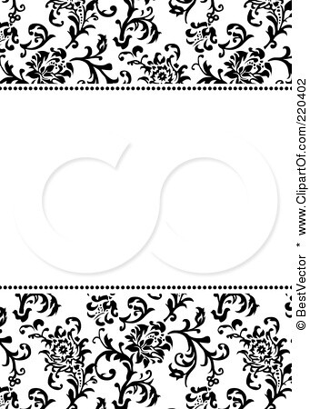 Formal black and white floral invitation border with copys flickr formal black and white floral invitation border with stopboris Choice Image