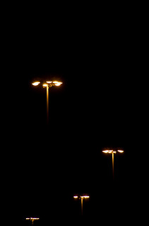 Hovering Lampaliens at night. | by J e n s