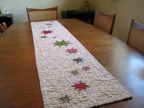 starry night table runner: quilted! | by Dan @ Piece and Press