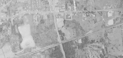 Twin Pines Drive-In aerial photo from 1970 | by ozonerusa
