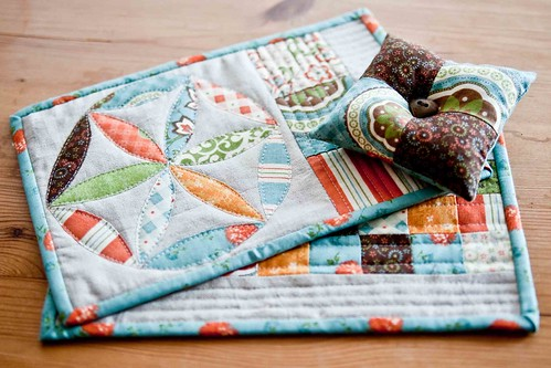 mug rugs for a swap | by little girl quilts