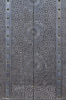 design on metal door - King Hassan II mosque - Casablanca, Morocco | by Phil Marion