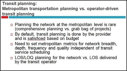 Slide, Metropolitan Mass Transit Planning: Towards a Hierarchical and Conceptual Framework