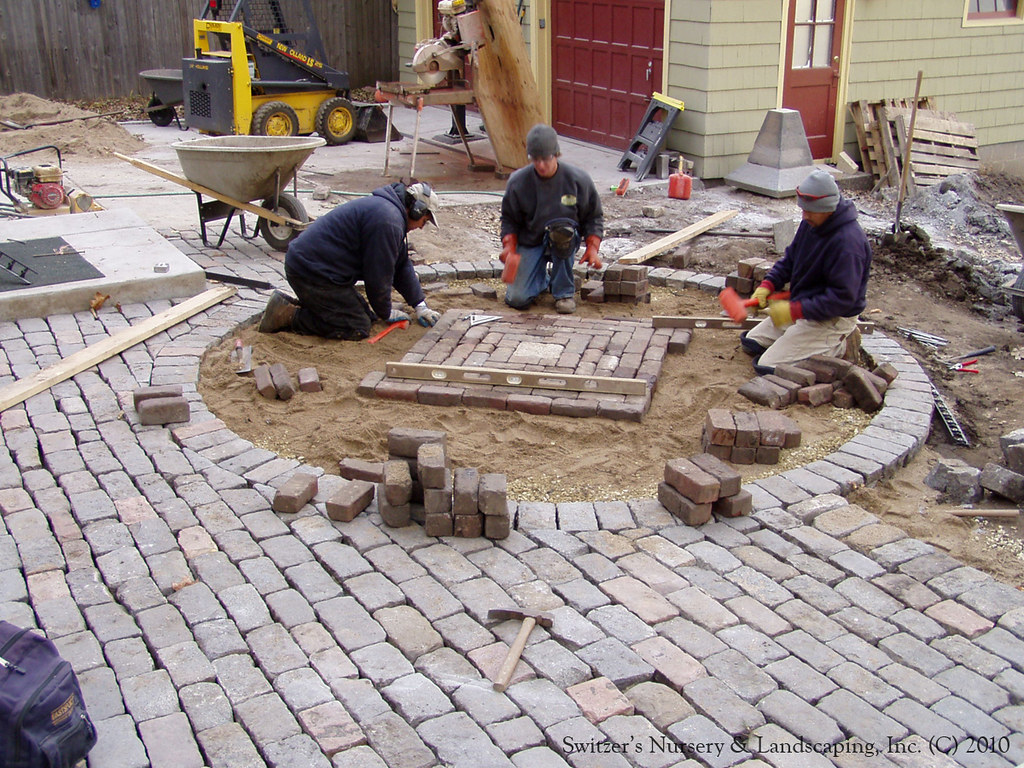 ... Salvaged Granite Cobble U0026 Clay Paver Patio | By Switzeru0027s Nursery U0026  Landscaping