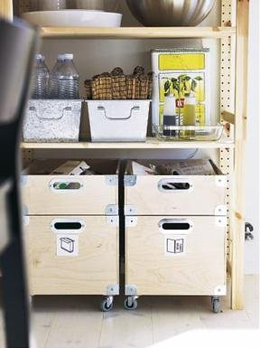 Ikea Snack pantry storage boxes w/ casters | recycling bins, discontinu… | flickr