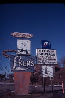 L-Ken's sign, Colonie, N.Y., Kodachrome 40 | by chuckthewriter