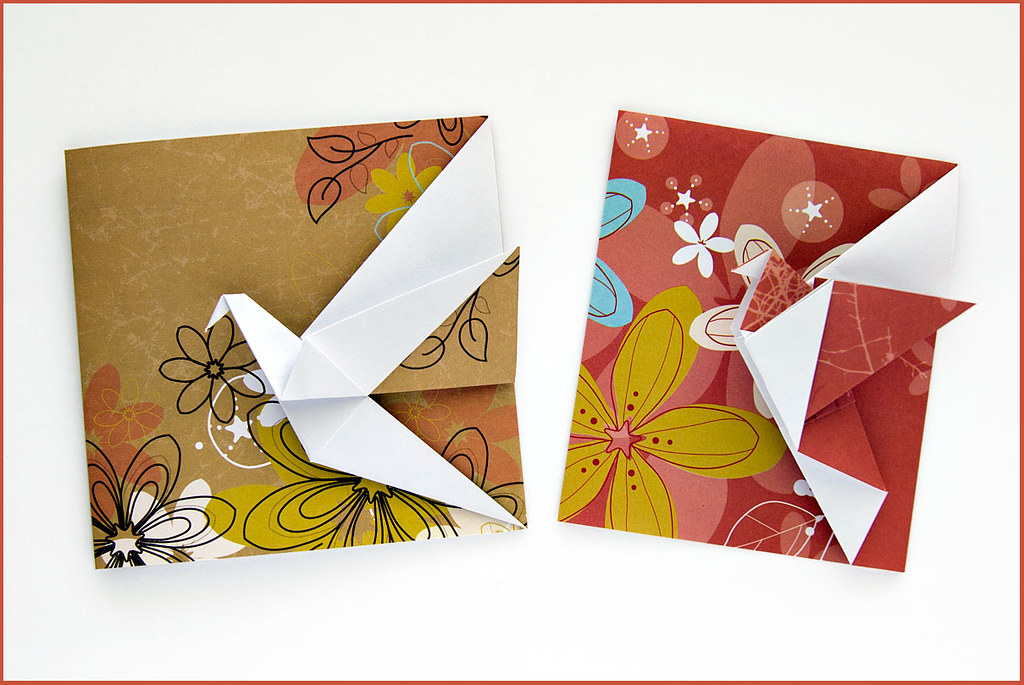 Origami Greeting Cards Crane Greeting Card By Didier Bours Flickr