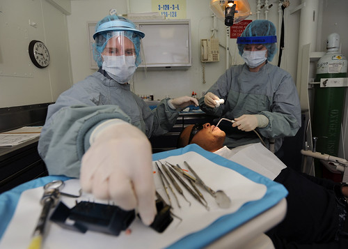 Dental procedure aboard USS Abraham Lincoln. | by Official U.S. Navy Imagery